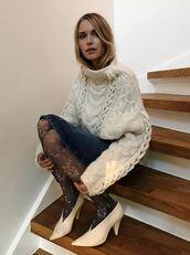 sweater,tights,pernille teisbaek,blogger,instagram,skirt,winter sweater