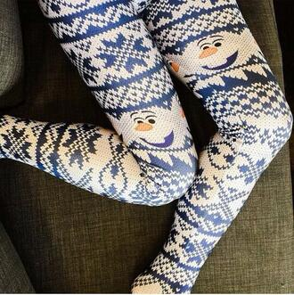 leggings frozen christmas warm cozy christmas leggings