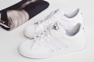 shoes white women lady girl fashion hipster style adidas shoes adidas superstars adidas originals adidas superstar