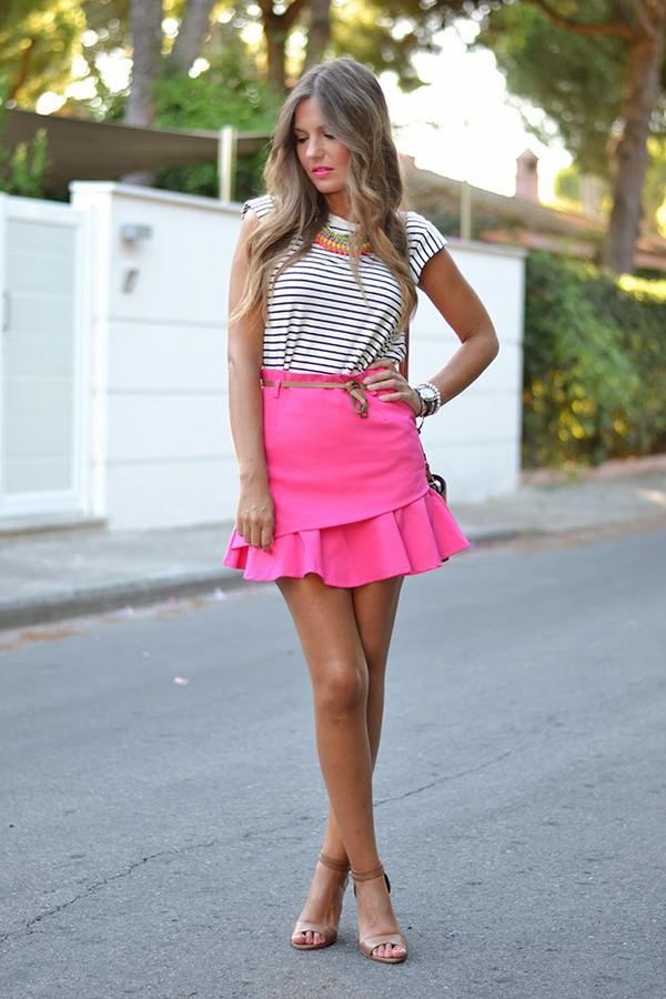 mi aventura con la moda skirt top t-shirt jewels bag shoes belt