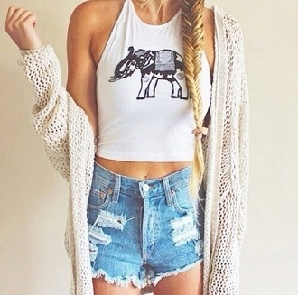 top elephants elephant elephant print tank tee crop tops halter top racer back tank tank top graphic crop tops graphic tee black and white crop tops high waisted shorts cardigan