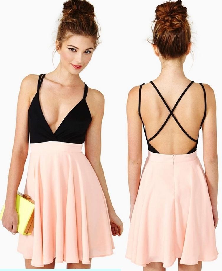 Deep v sexy dress