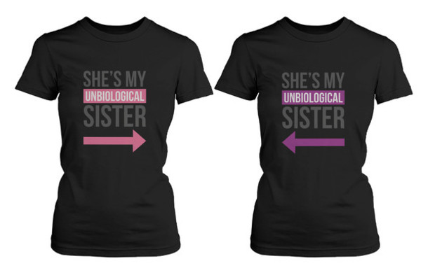 Shirt: bff, bff shirt, matching shirts, matching shirts for best ...