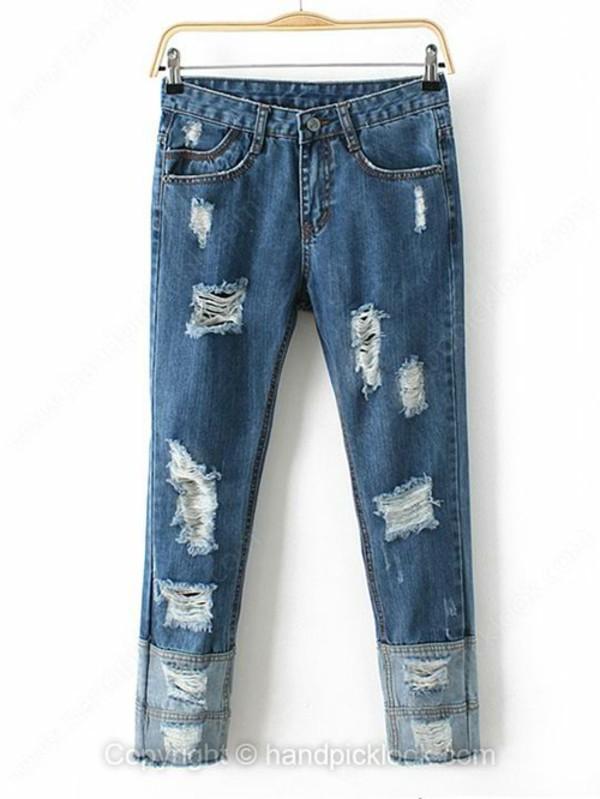 jeans bottom boyfriend jeans ripped jeans