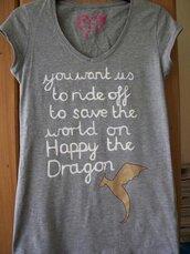 t-shirt,leo,happy,percy jackson,happy the dragon
