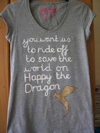 t-shirt leo happy percy jackson happy the dragon