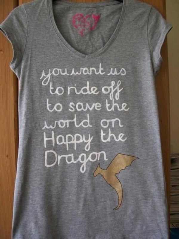 t-shirt leo t-shirt happy percy jackson happy the dragon