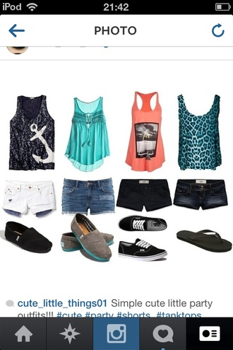 tank top shorts shoes anchor anchor shirt leopard print leopard print top toms keds flip-flops summer outfits tumblr tumblr outfit tumblr clothes blouse shirt top