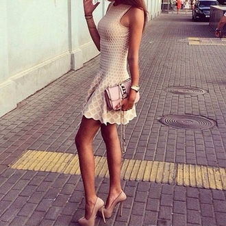 nude dress beige dress tan dress short dress