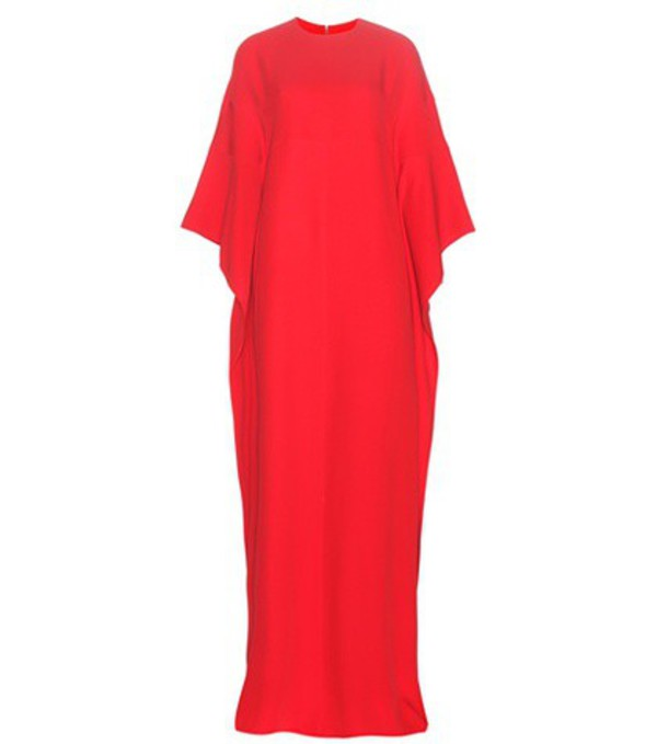 Valentino Silk Maxi Dress in red