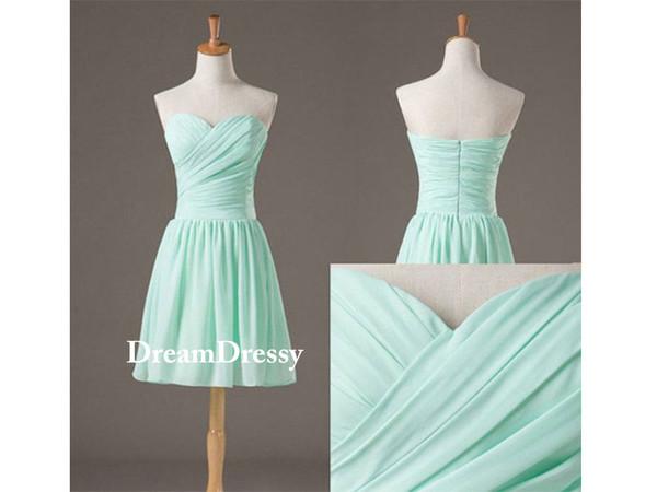dress sweetheart bridesmaid dresses mint dress
