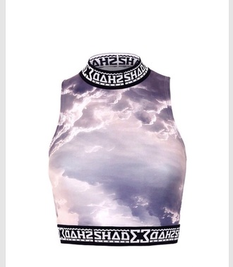 top soft grunge lilac style cool clouds