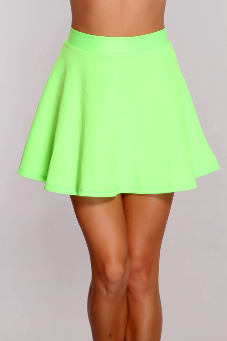 Lime Zip Up Back Skater Skirt @ Amiclubwear Clothing Skirts Online ...