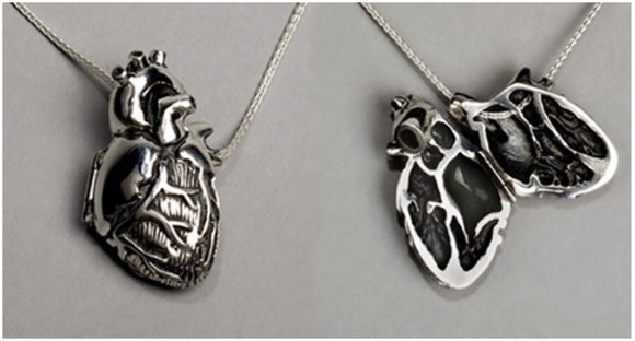 jewels necklace silver heart necklace silver necklace creepy creepy cute