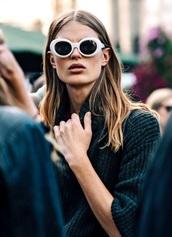 sunglasses,glasses,sunnies,white,white sunglasses,retro,retro sunglasses,grunge,grunge accessory,90s style,90s grunge,designer inspired,accessories,Accessory