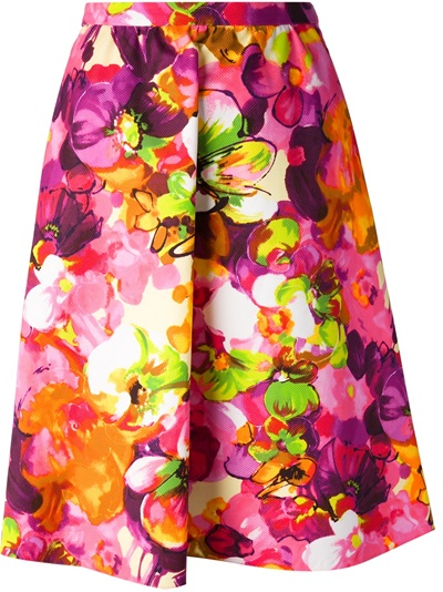 Valentino Floral A-line Skirt - Al Duca D'aosta - Farfetch.com