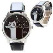 jewels,ziziztime,ziz watch,watch,leather watch,cats,cats watch,designer watch,unusual watch,unique watch,cool watch,black n white,good and bad