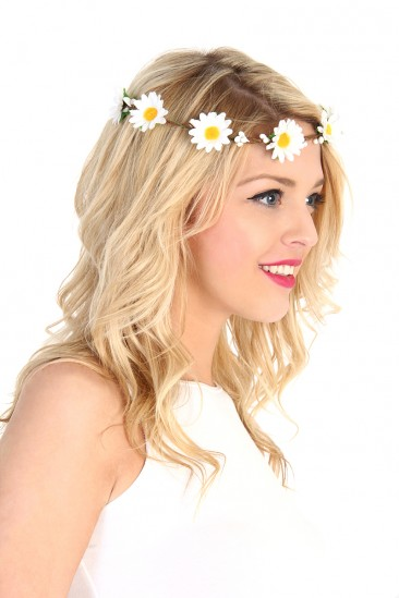 LoveMelrose.com From Harry & Molly | Daisy Crown Headband - White