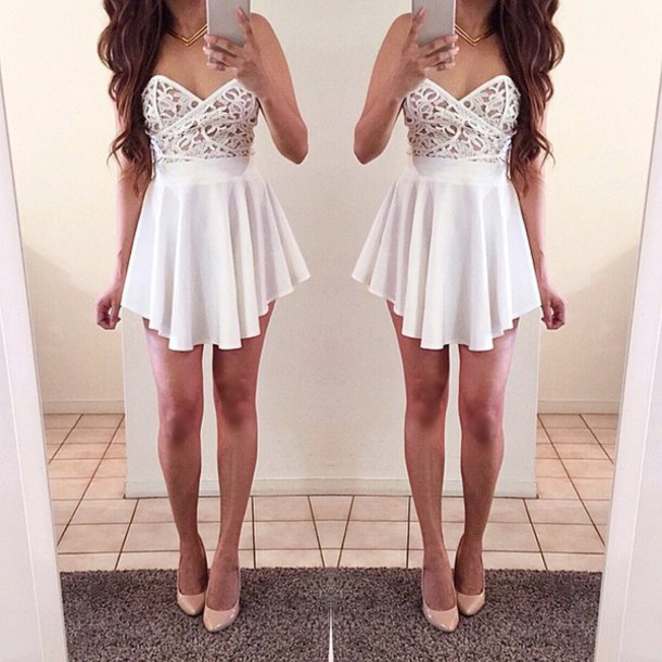 dress white dress white cute dress lace dress cocktail dress white cocktail dress stylish cute beautiful gorgeous gorgeous dress summer dress white short dress lace floral white lace fashion styke girly lace white lacedress girly dress lace top prom short dress lace up prom dress short prom dress short strapless short dress pretty crochet crochet dress white lace dress lace on top lace on top dress white formal dres battenburg white skirt white lace on top dance dress sexy skirt jewels clothes shoes sweetheart neckline strapless dress graduation dresses dressy sexy dress flowy hot homecoming dress homecoming date outfit date outfit nightwear dinnerware