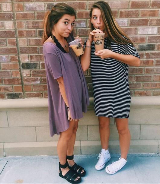 dress purple summer tee shirt dresses shoes black wedges sandals flats t-shirt dress oversized t-shirt purple dress striped dress