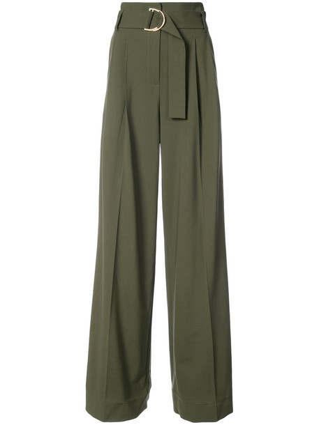 Dvf Diane Von Furstenberg high waisted high women green pants