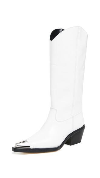 cowboy boots white shoes