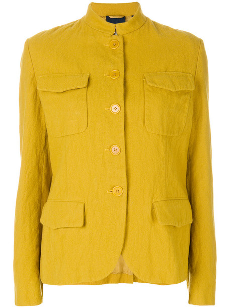 ASPESI jacket metallic women wool yellow orange