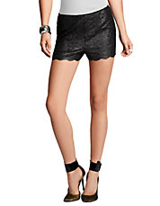Women's Apparel | Bottoms  | Foiled Lace High-Waist Shorts | Lord and Taylor