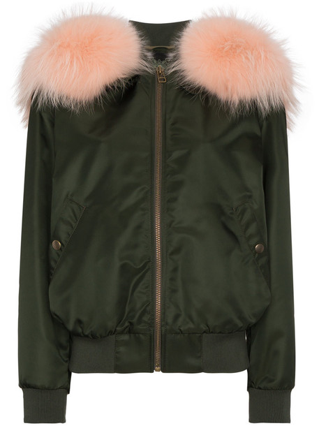 Mr & Mrs Italy jacket bomber jacket fur women green