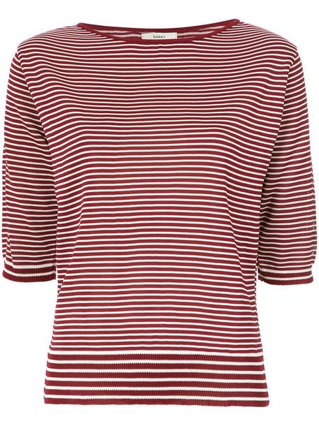 EGREY blouse women red top