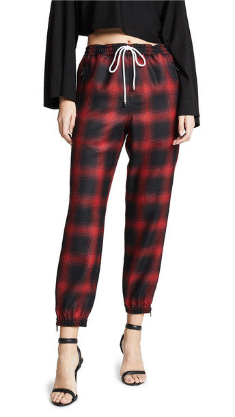 Alexander Wang Track Pants with Elastic Waist in red