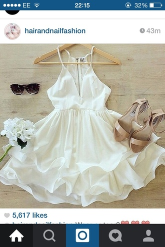 dress white dress party dress summer dress love hair accessory hat shoes birthday dress