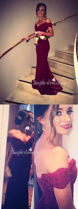 dress prom dress 2016 long prom dress wine red prom dress