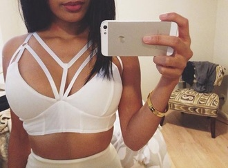 top strappy strappy bralette strappy crop top crop tops