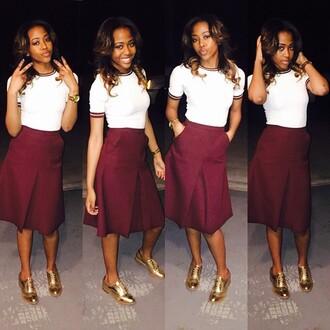 skirt burgandy red red wine burgandy skirt tea length skirt knee length knee length skirt red skirt maxi skirt maxi skirt with pocket pleated skirt