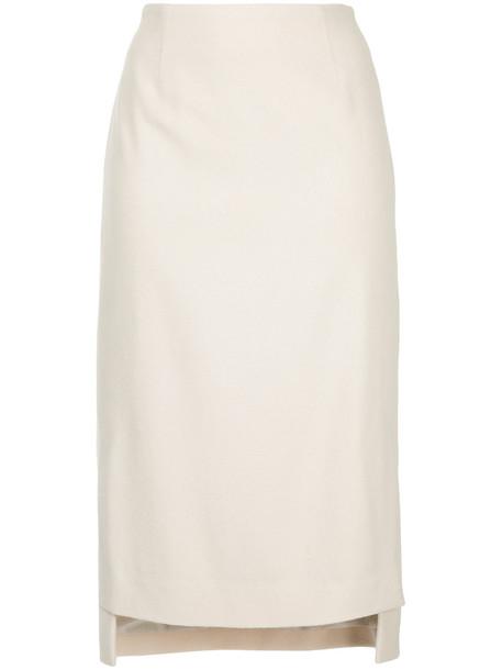 Estnation skirt women white wool