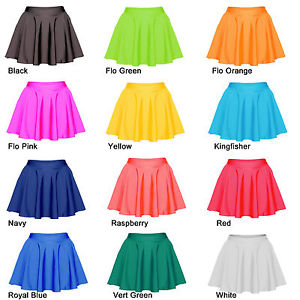 Skating Skirts Skater Skirt Roller Ice Dance Childrens Adults Lycra All Colours | eBay