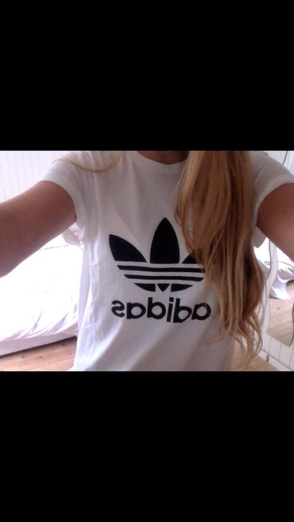 shirt adidas adidas shirt blonde hair