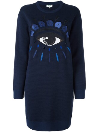 dress sweatshirt dress blue