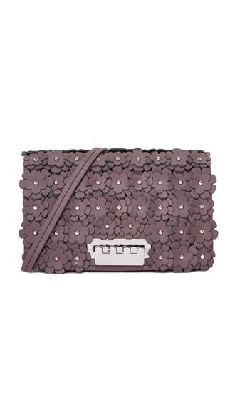 cross bag floral purple