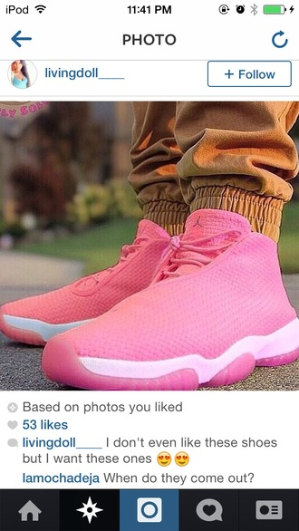 jordan future pink laced jordans shoes