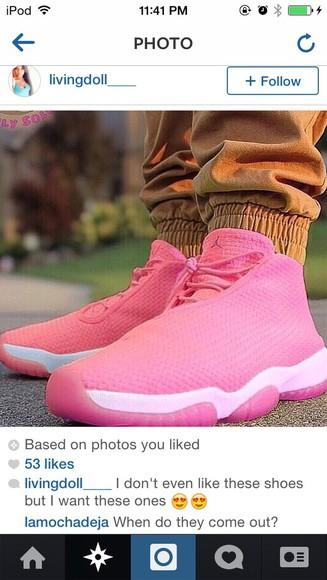 laced jordan future pink jordan shoes