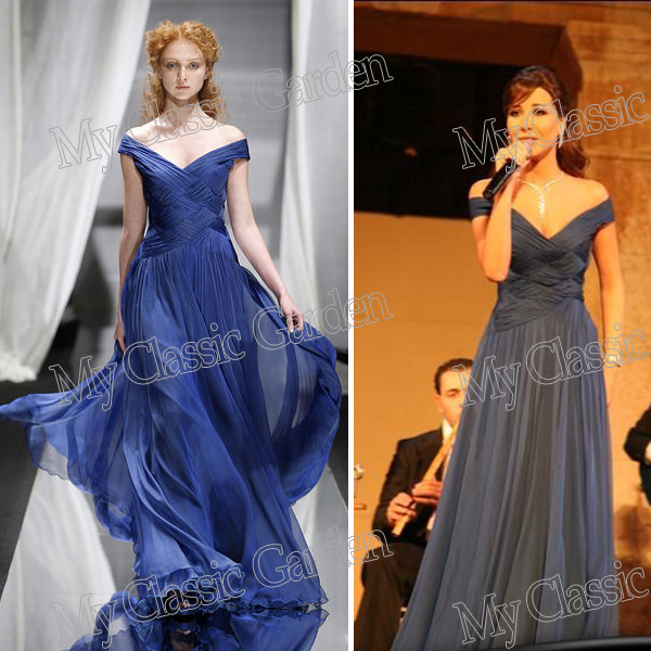Aliexpress.com : buy nancy ajram v neck off the shoulder short sleeves criss cross top a line zuhair murad blue celebrity dresses gowns from reliable vintage patchwork dress suppliers on my classic garden