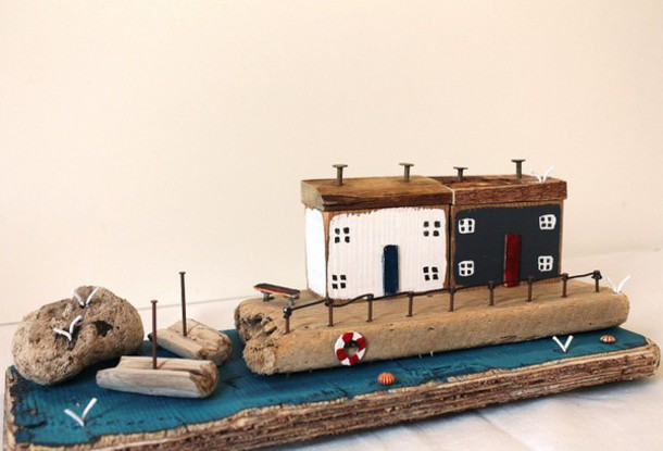 Home Accessory Driftwood Art Driftwood Cottage Miniature Home