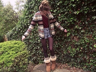 sweater tribal sweater jeans jacket shirt underwear tribal pattern ariana grande shorts winter outfits pattern aztec