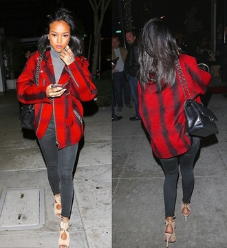 sandals jacket karrueche