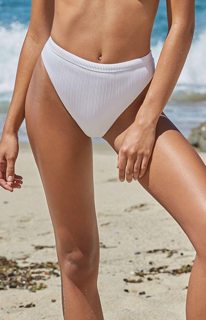 LA Hearts Sydney Ribbed High Cut Bikini Bottom at PacSun.com
