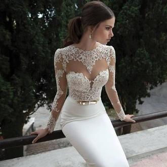 dress red carpet white white dress long elegant