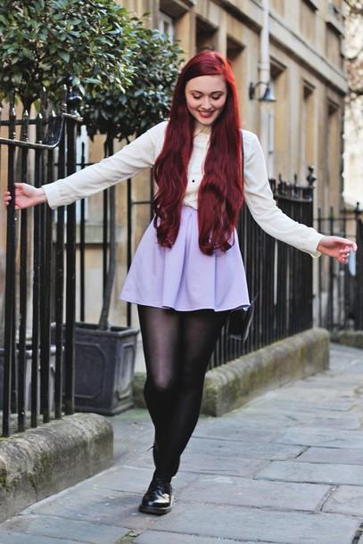 briar rose blogger lilac skater skirt mini skirt