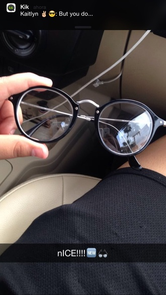 sunglasses glasses cute indie boho grunge black silver see through tumblr rayban tumblr outfit